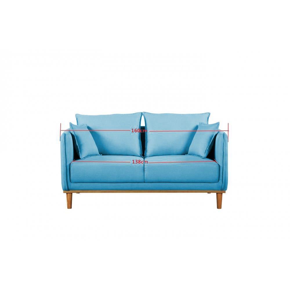 Canap design en cuir ou tissu au meilleur prix inside75 for Canape 2 places scandinave