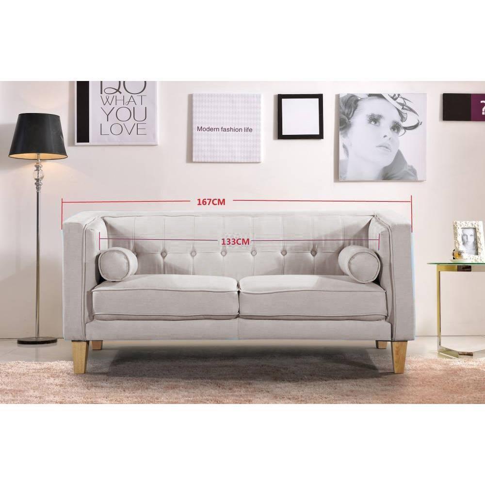 canap fixe confortable design au meilleur prix canap 2 places style scandinave piavola. Black Bedroom Furniture Sets. Home Design Ideas