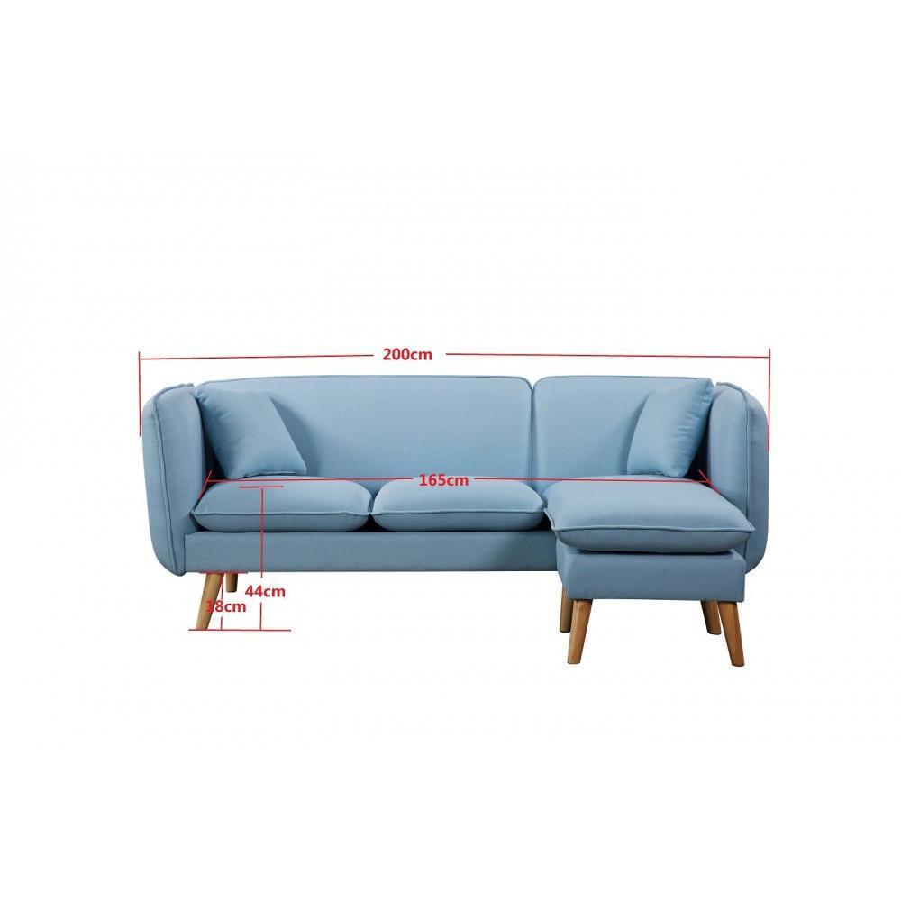 canap fixe confortable design au meilleur prix canap 3 places plus pouf style scandinave. Black Bedroom Furniture Sets. Home Design Ideas