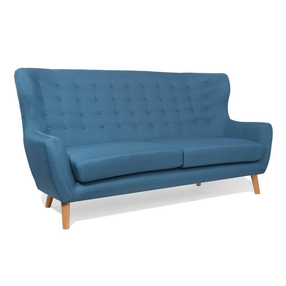 canap fixe confortable design au meilleur prix canap scandinave perfekt 3 places bleu azur. Black Bedroom Furniture Sets. Home Design Ideas