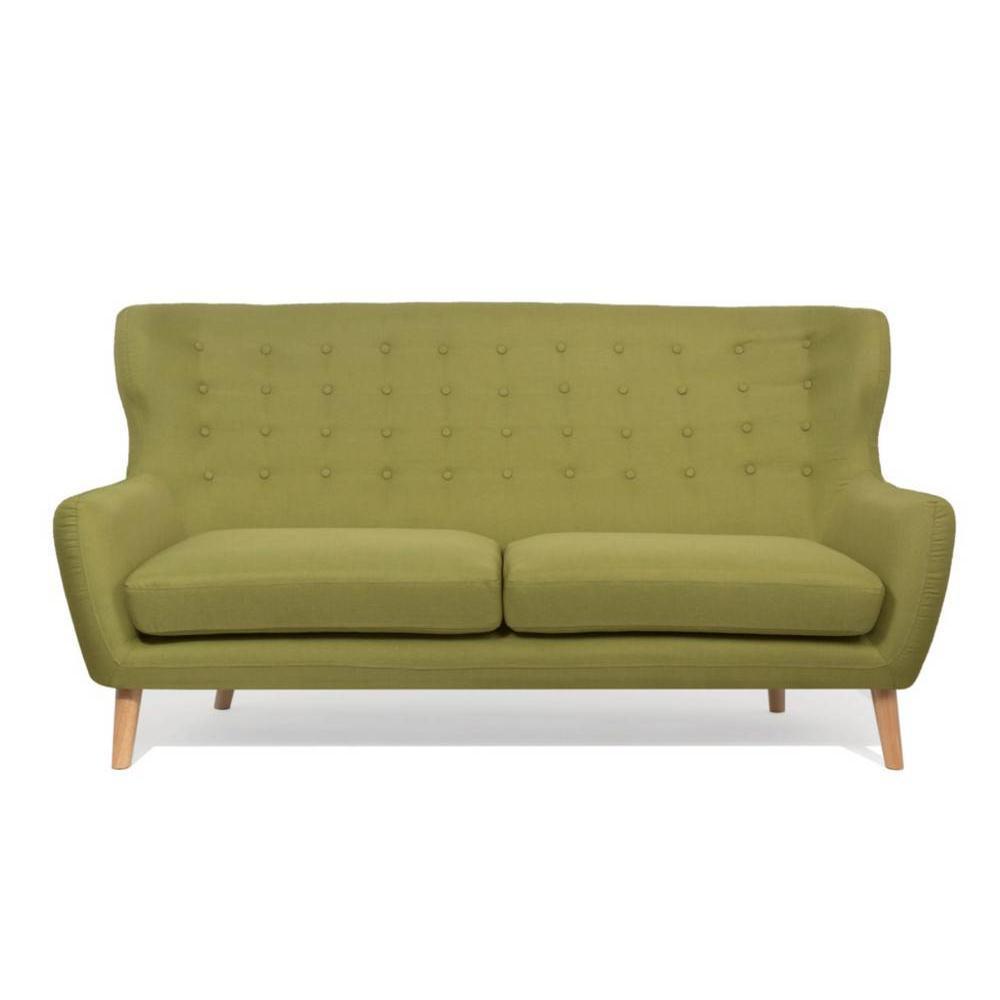 canap fixe confortable design au meilleur prix canap scandinave perfekt 3 places vert lime. Black Bedroom Furniture Sets. Home Design Ideas