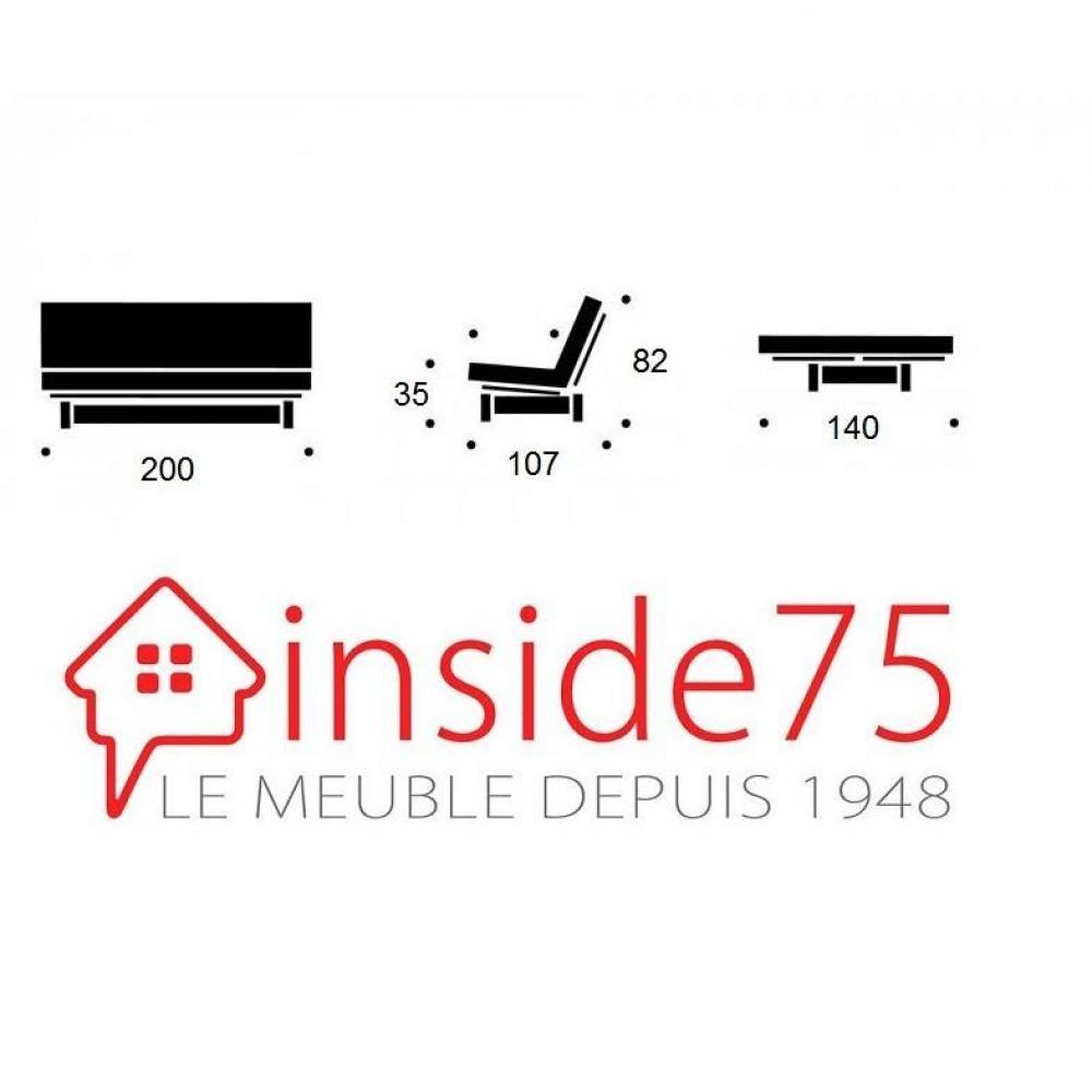 Banquette lit futon style scandinave FRESH 3 places convertible couchage 140*200cm