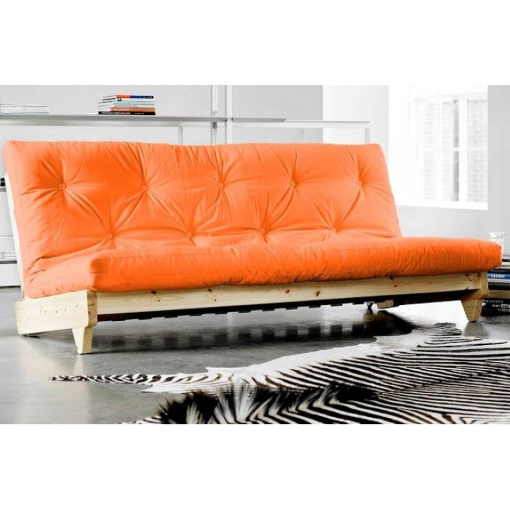 banquette lit futon orange fresh 3 places convertible couchage 140 200cm eur 737 00 picclick fr. Black Bedroom Furniture Sets. Home Design Ideas