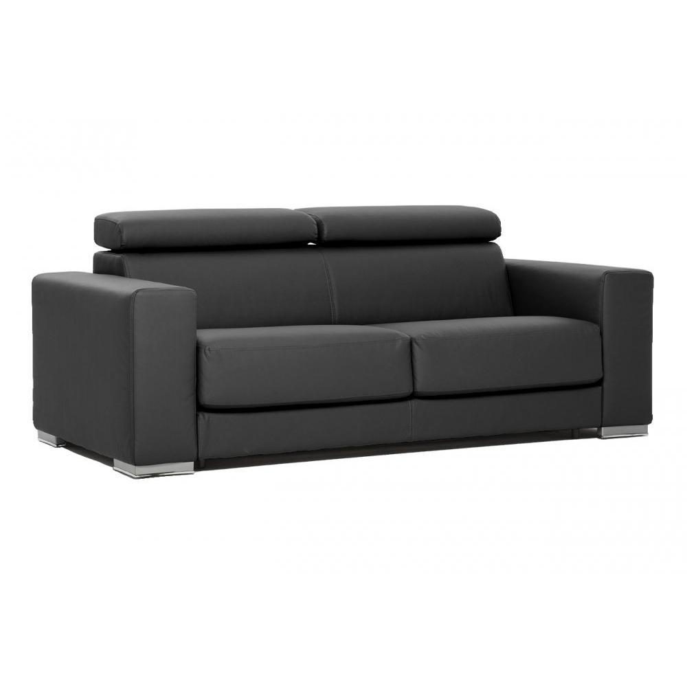 Canap convertible expresso tissu enduit gris fa on cuir for Enlever aureole canape tissu