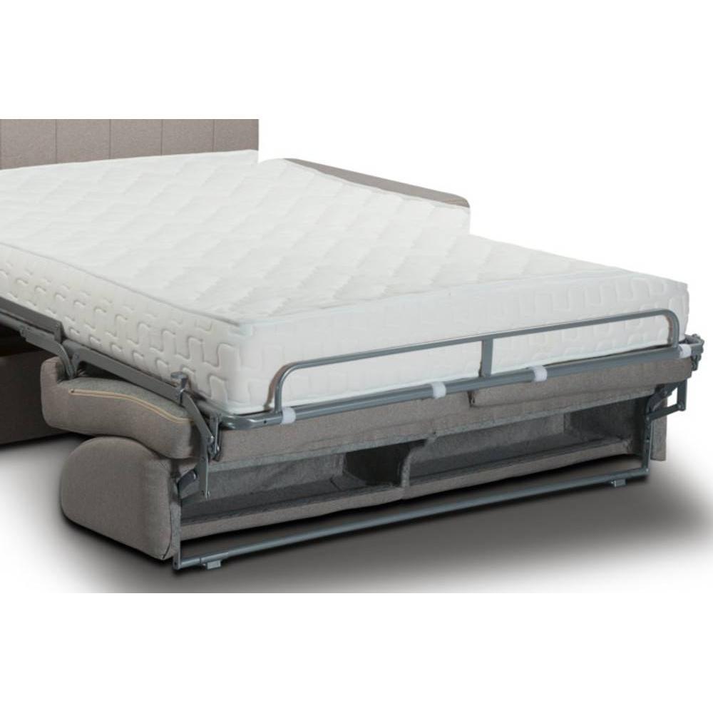 Canapé lit BELLE EPOQUE 140cm EXPRESS lattes matelas mémory 22cm tête de lit intégrée