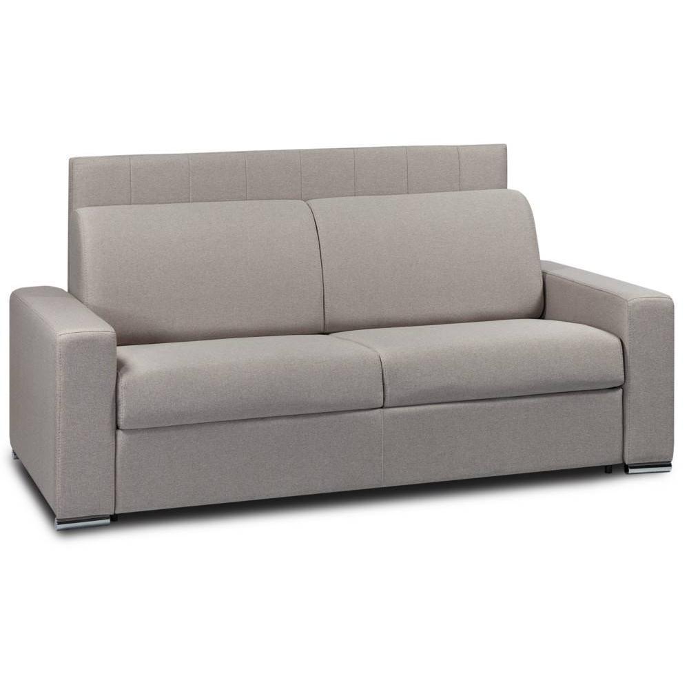Canapé lit 3 places DEAUVILLE 140cm EXPRESS sommier lattes tête de lit intégrée matelas 16cm