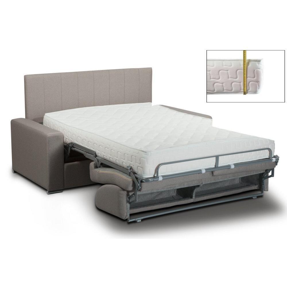 Canapé lit NORMANDIE EXPRESS  lattes 160cm matelas mémory  22cm tête de lit intégrée