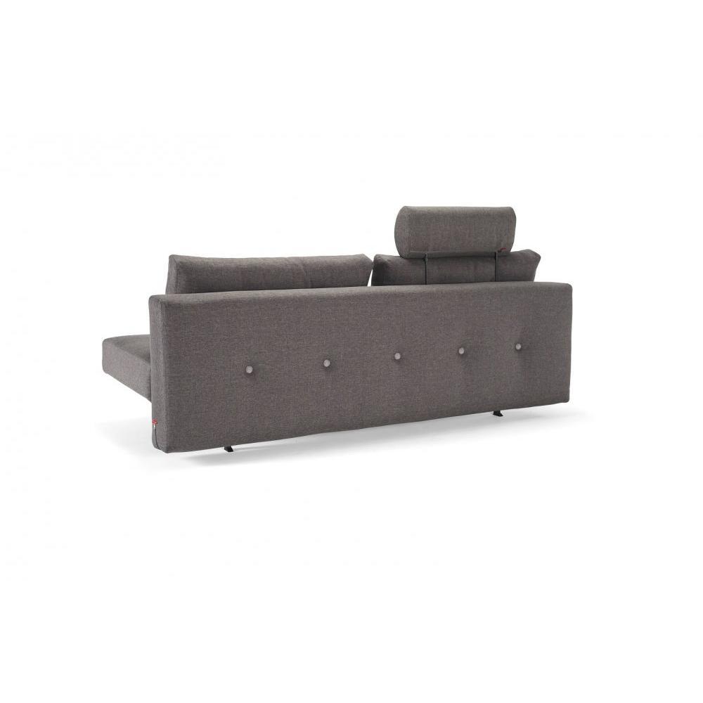 INNOVATION LIVING  Canape design RECAST PLUS SPECIAL Flashtex Dark Grey convertible lit  200*140cm