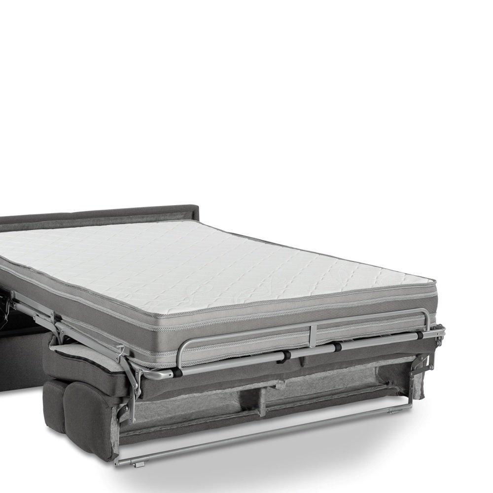 Canapé compact convertible LONGCHAMP matelas mémory  20cm rapido lattes 120cm