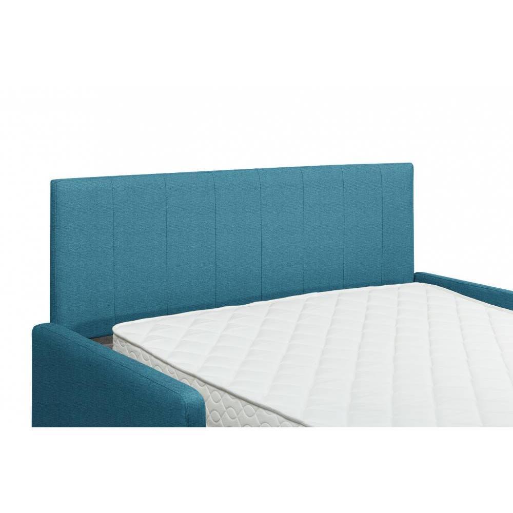 Canapé compact convertible avec tête de lit PLAZA matelas 16cm système express sommier lattes 120cm