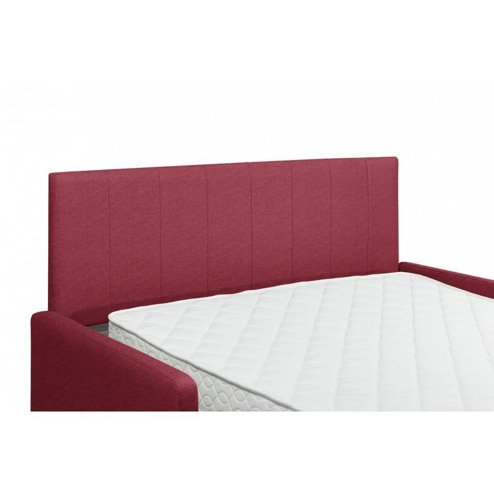 Canapé compact convertible avec tête de lit PLAZA matelas 16cm système express sommier lattes 140cm