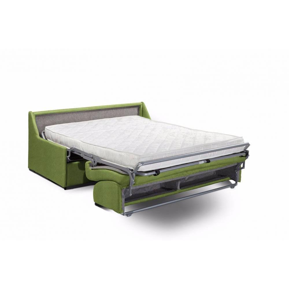 Canapé compact convertible TRIOMPHE matelas 16cm système rapido sommier lattes 120cm
