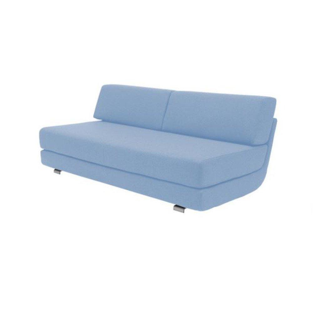 Module convertible LOUNGE 3 places en tissu laine bleu couchage 160*198cm. Module convertible LOUNGE 3 places en tissu laine bleu couchage 160*198cm