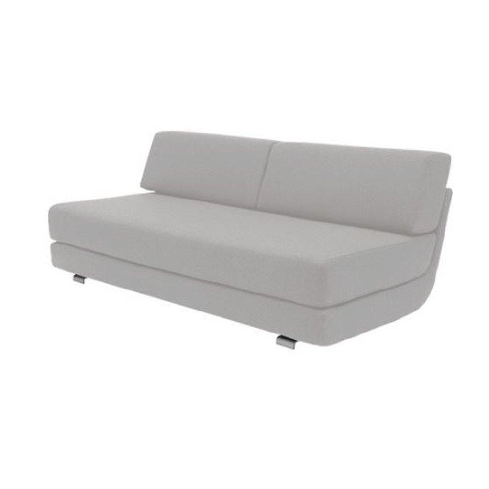 Module convertible LOUNGE 3 places en tissu gris clair couchage 160*198cm  SOFTLINE