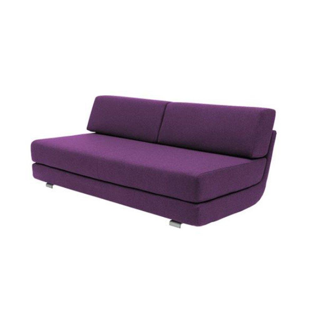 Module convertible LOUNGE 3 places en tissu violet couchage 160*198cm. Module convertible LOUNGE 3 places en tissu violet couchage 160*198cm