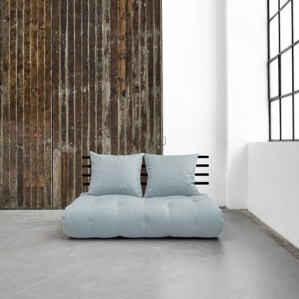 canap convertible au meilleur prix canap lit noir shin sano futon sky blue couchage 140 200cm. Black Bedroom Furniture Sets. Home Design Ideas