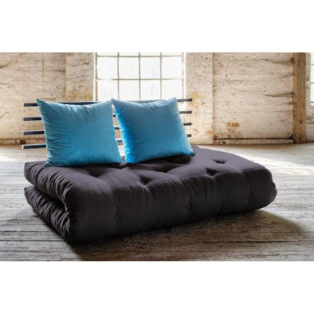 canap banquette futon convertible au meilleur prix canap lit noir shin sano futon grey. Black Bedroom Furniture Sets. Home Design Ideas