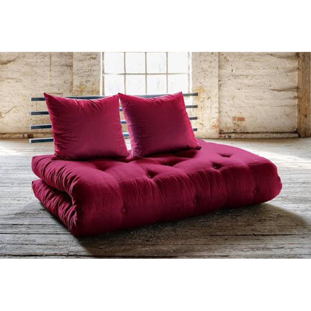 canap banquette futon convertible au meilleur prix canap lit noir shin sano futon bordeaux. Black Bedroom Furniture Sets. Home Design Ideas