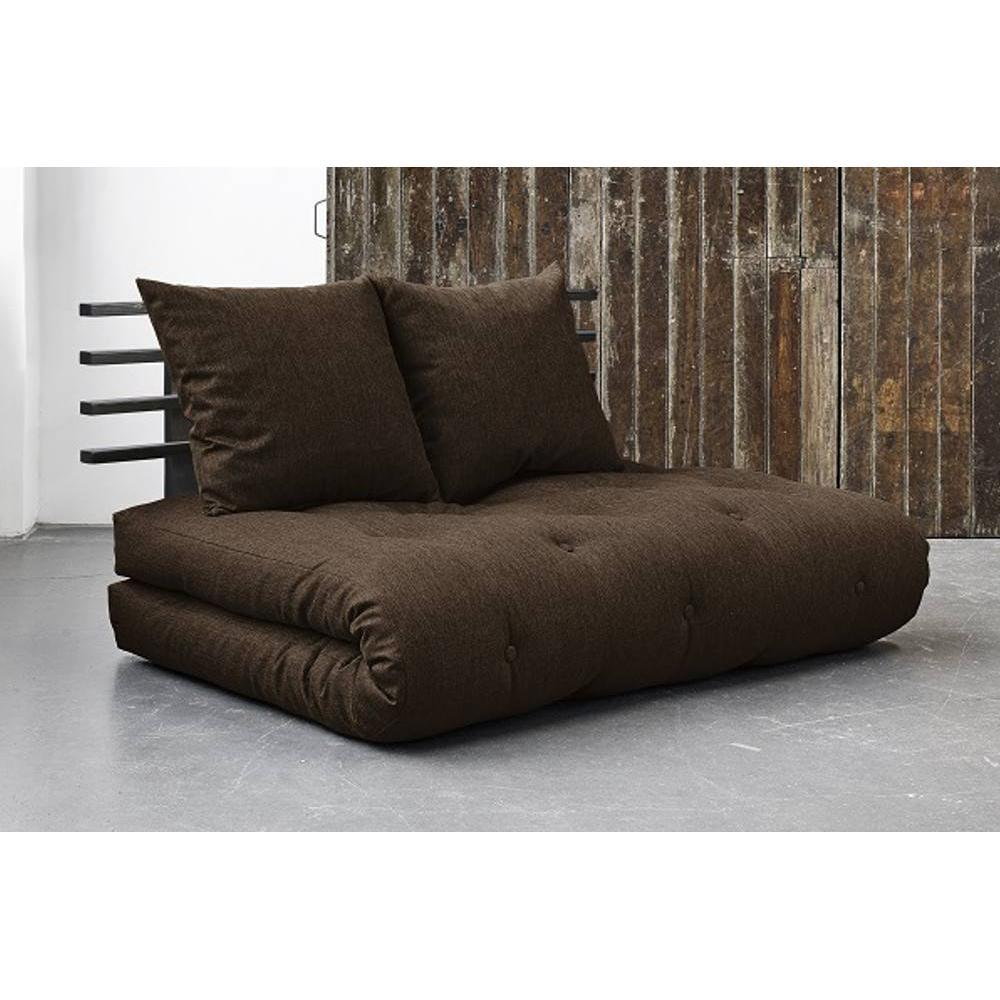 canap convertible au meilleur prix canap lit noir shin sano futon chocolat couchage 140 200cm. Black Bedroom Furniture Sets. Home Design Ideas