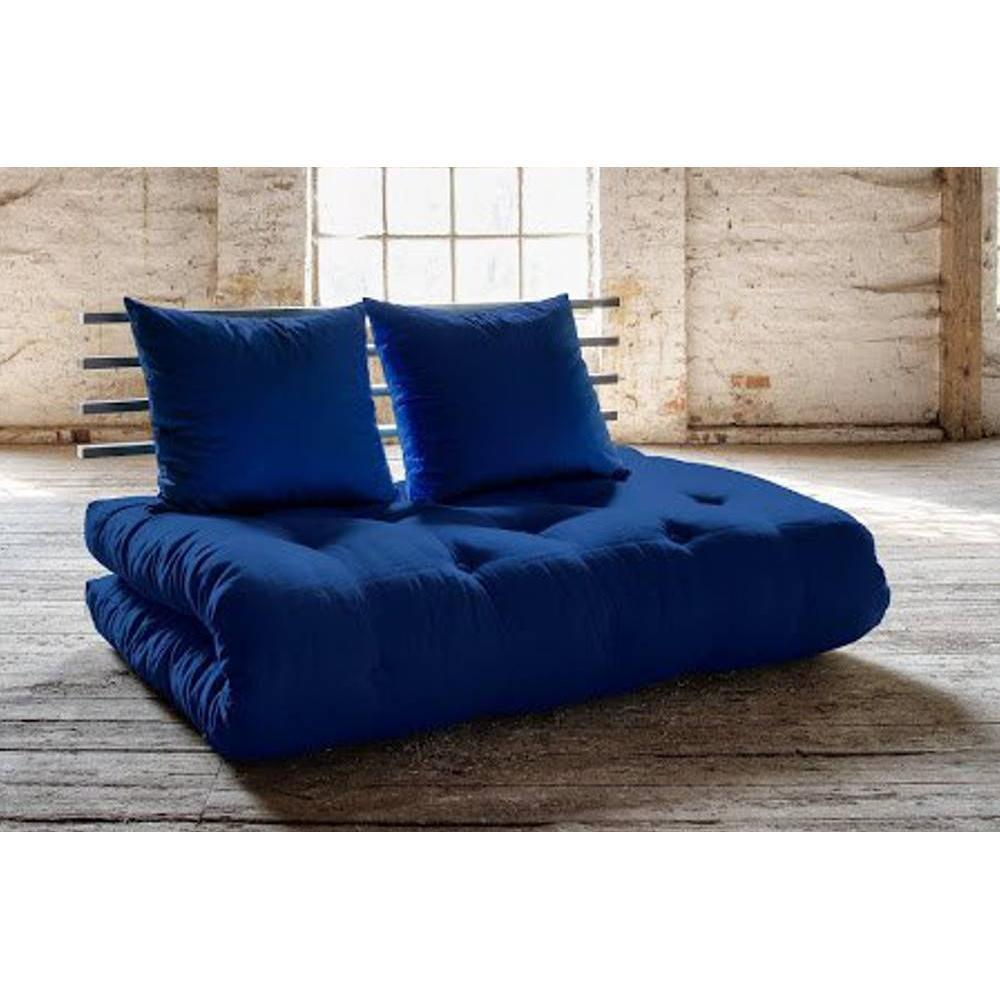 canap banquette futon convertible au meilleur prix canap lit noir shin sano futon bleu. Black Bedroom Furniture Sets. Home Design Ideas