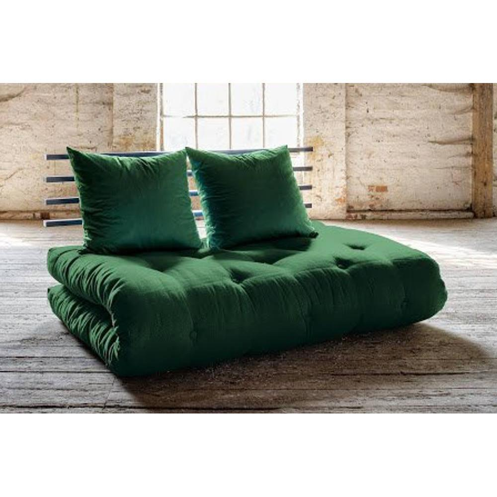 canap banquette futon convertible au meilleur prix canap lit noir shin sano futon vert. Black Bedroom Furniture Sets. Home Design Ideas