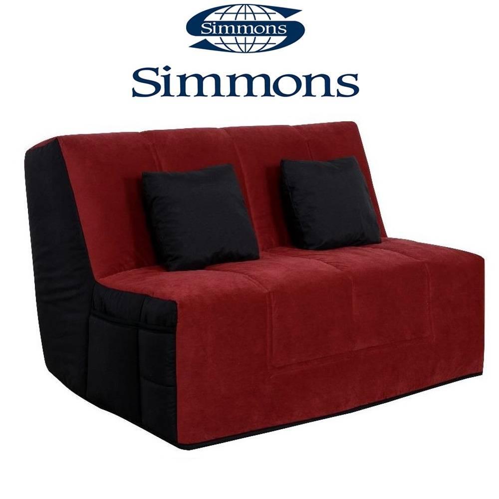 canap convertible au meilleur prix canap convertible bz well microfibre rouge noire syst me. Black Bedroom Furniture Sets. Home Design Ideas