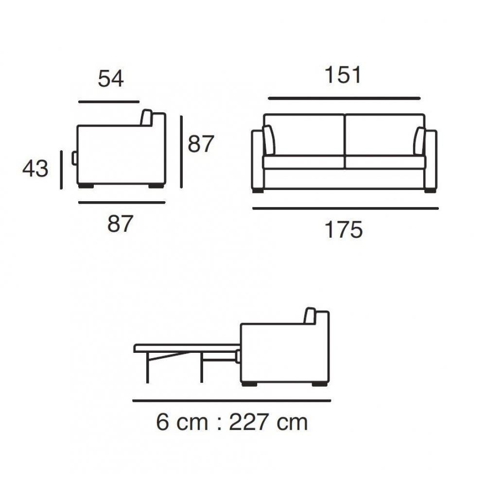 Canapé lit convertible PALERME Couchage 133*183 cm Ouverture EXPRESS sommier lattes