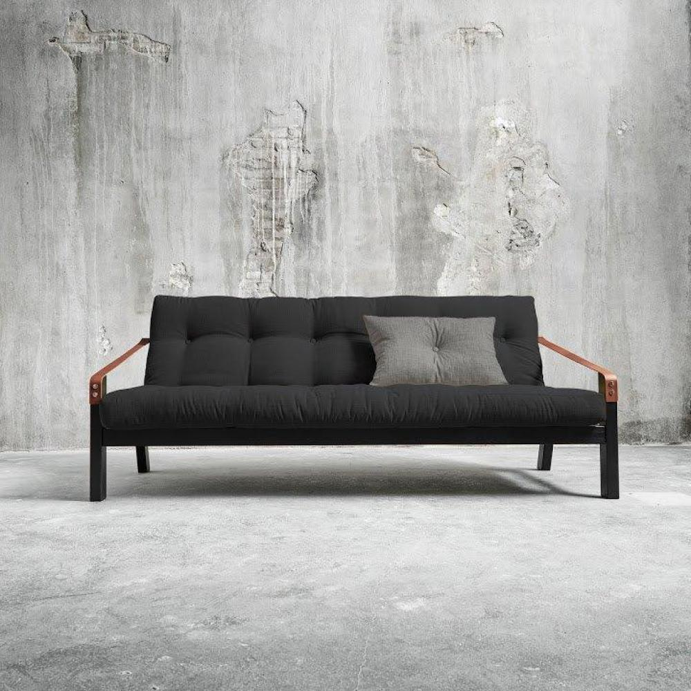 canap banquette futon convertible au meilleur prix canap noir 3 4 places convertible poetry. Black Bedroom Furniture Sets. Home Design Ideas