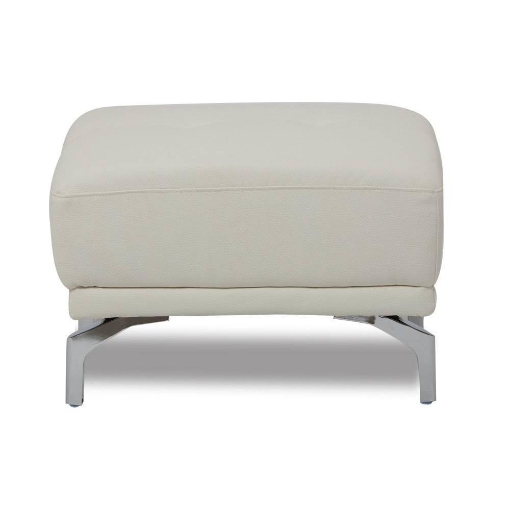 Canap fixe confortable design au meilleur prix canap fixe et pouf re - Pouf blanc capitonne ...