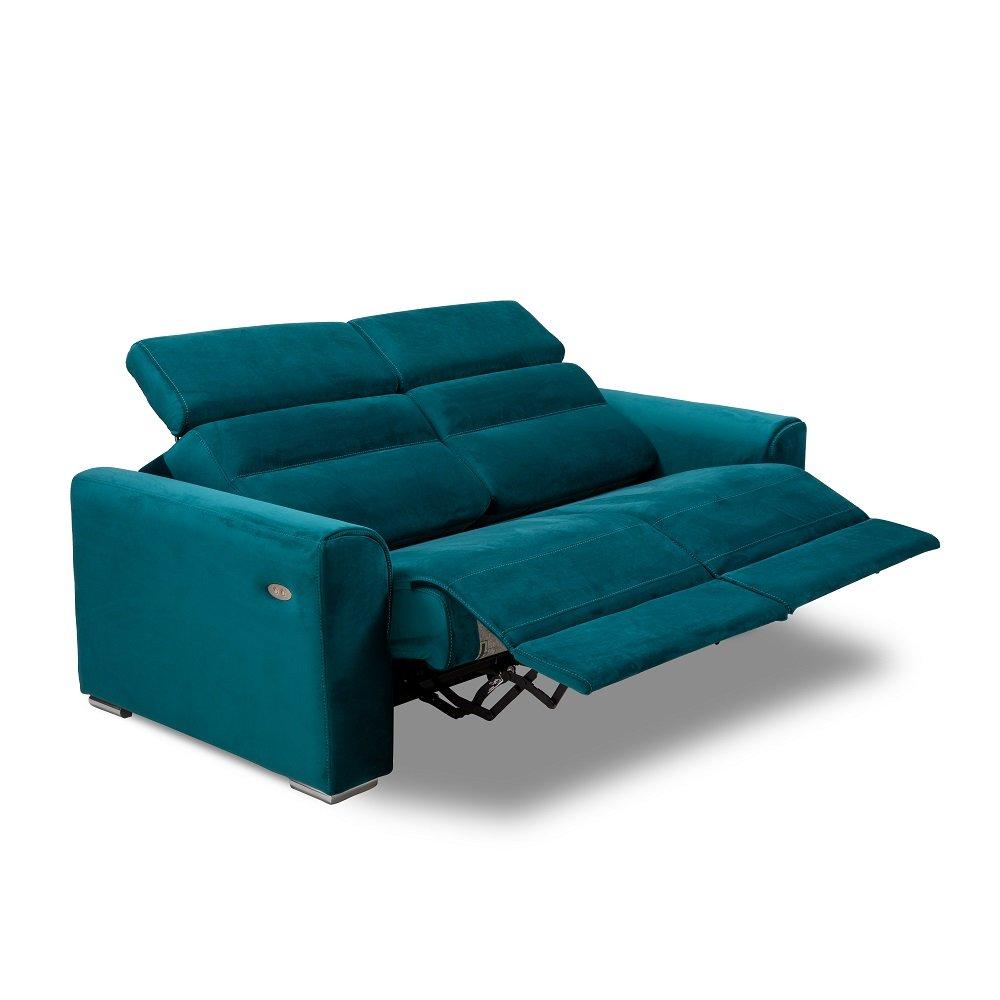 confort loft canap 2 places relax lectrique cuir ou tissu avec systme zro wall - Canape De Qualite