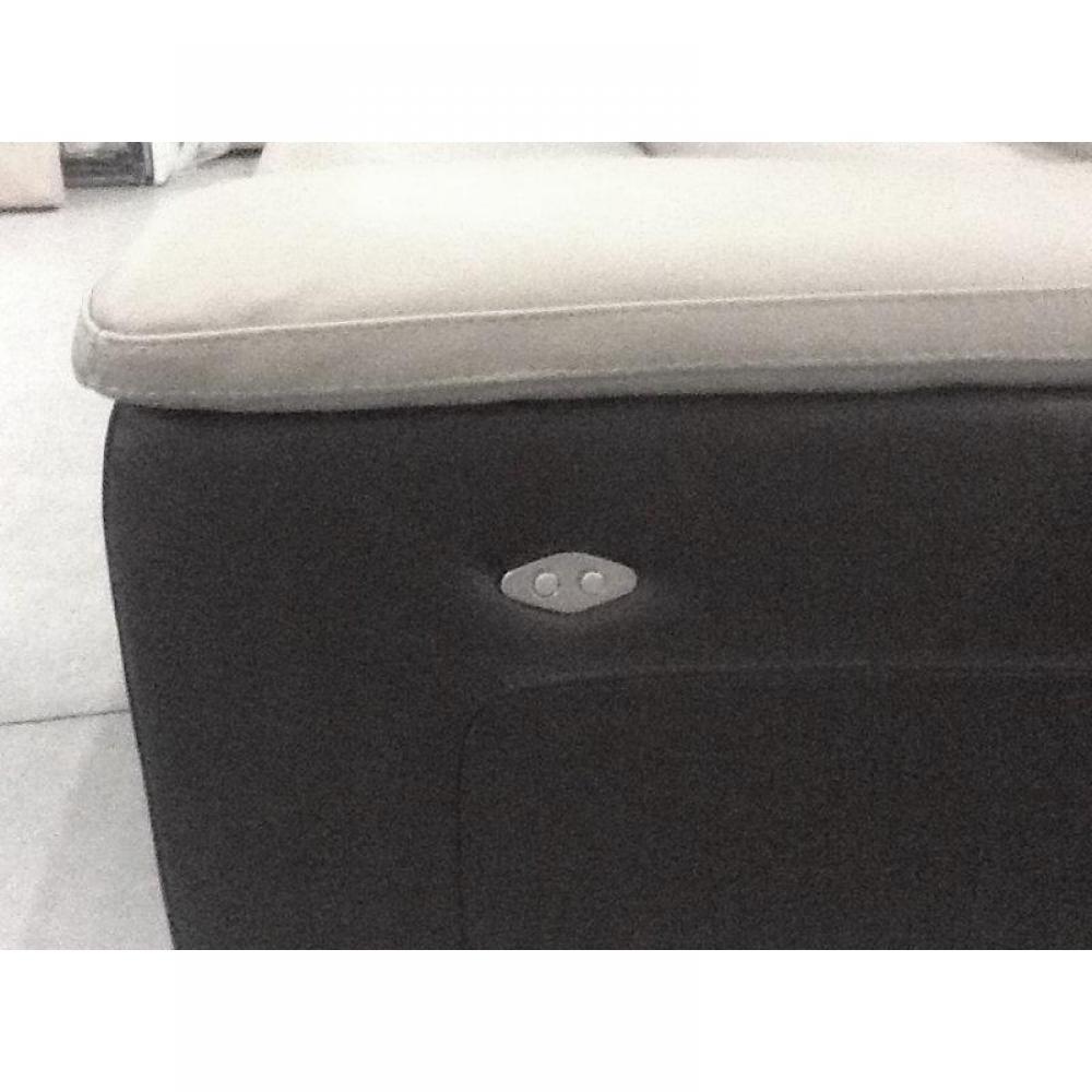 RELAXO divano 2 posti relax, pelle o tessuto con sistema zero wall