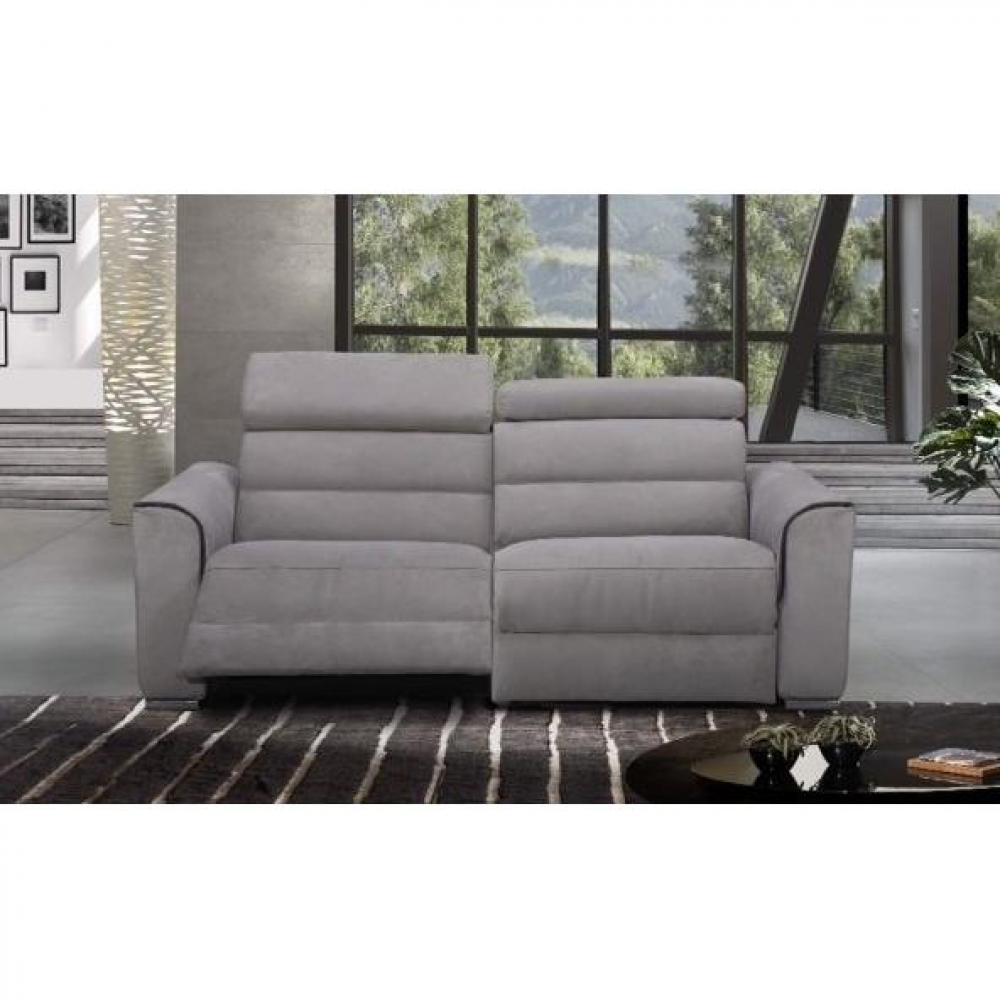 confort loft canap 3 places relax lectrique cuir ou tissu avec systme zro wall - Canape 3 Places Relax