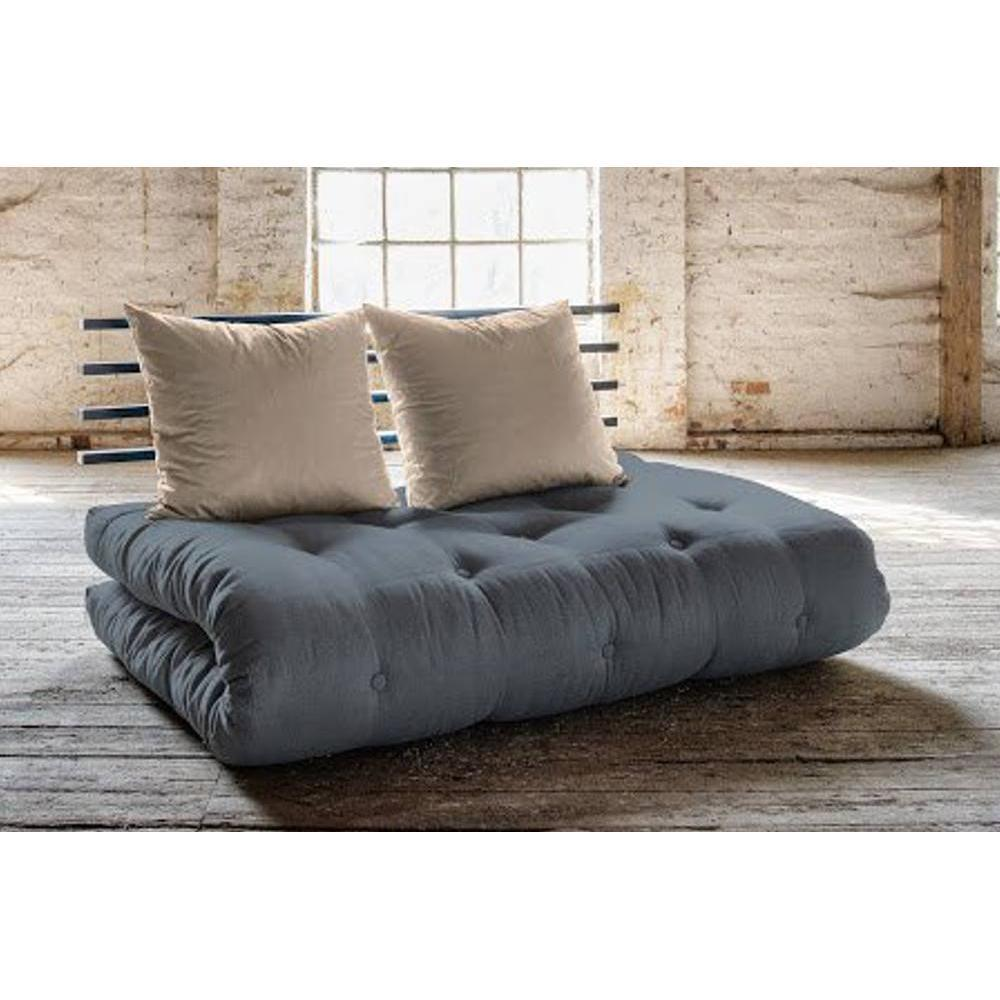 canap banquette futon convertible au meilleur prix canap lit noir shin sano futon gris avec. Black Bedroom Furniture Sets. Home Design Ideas
