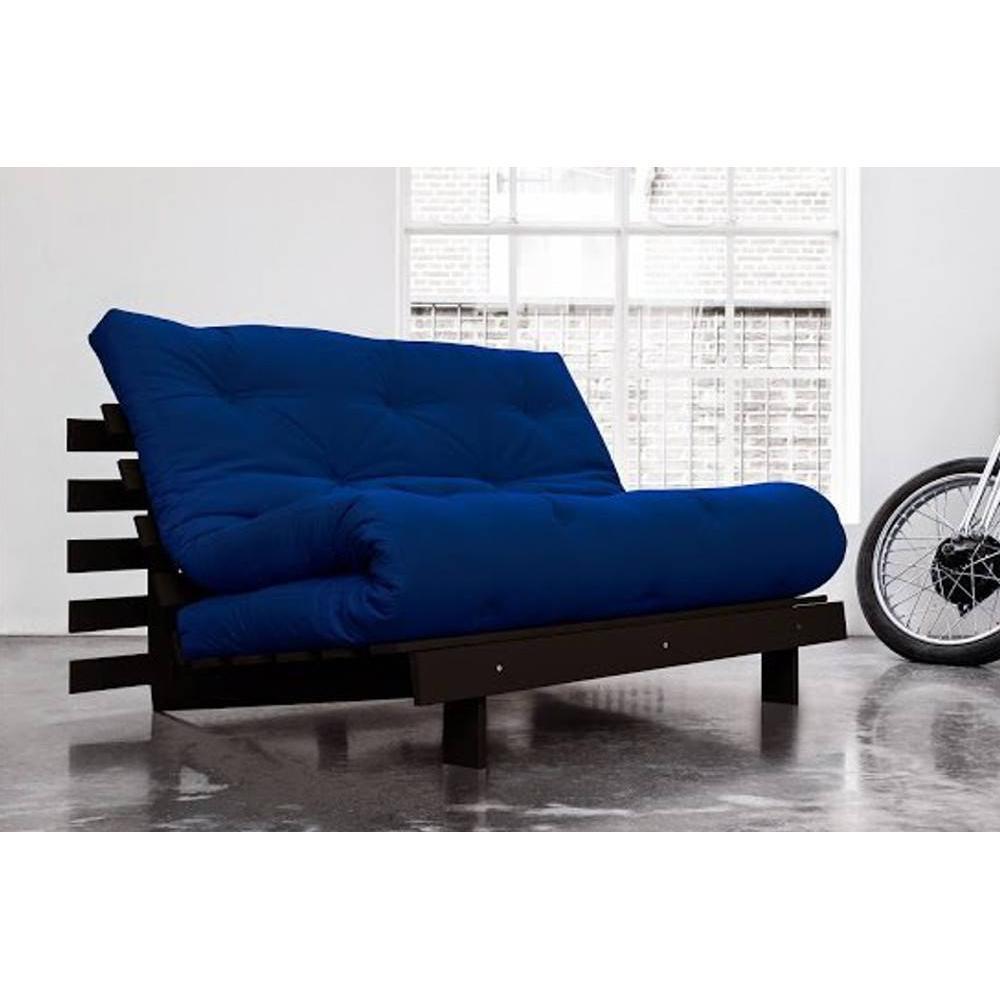 canap convertible au meilleur prix canap bz weng roots wengue futon bleu royal couchage 140. Black Bedroom Furniture Sets. Home Design Ideas
