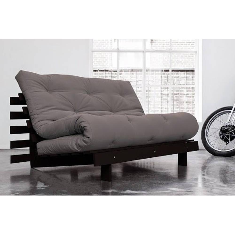 canap convertible au meilleur prix canap bz weng roots wengue futon gris couchage 140 200cm. Black Bedroom Furniture Sets. Home Design Ideas