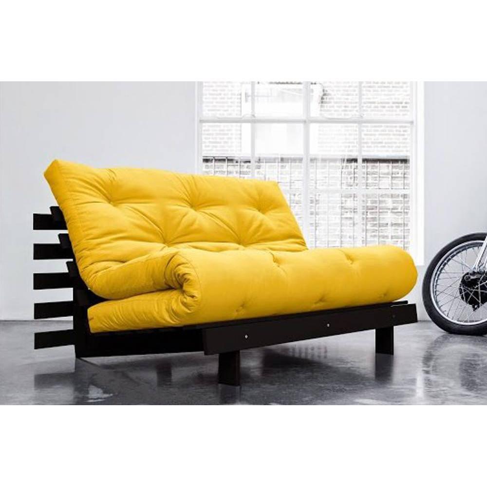 canap convertible au meilleur prix canap bz weng roots wengue futon jaune couchage 140 200cm. Black Bedroom Furniture Sets. Home Design Ideas