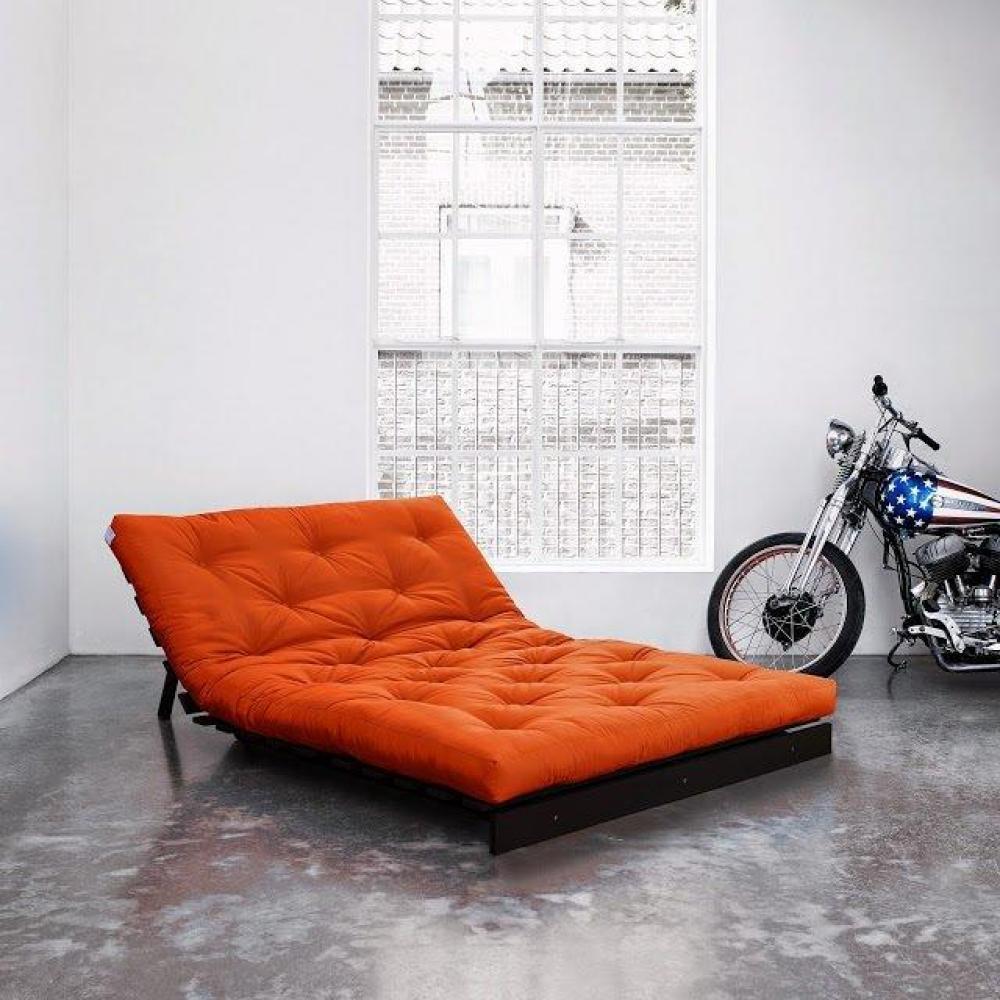 canap convertible au meilleur prix canap bz weng roots wengue futon orange couchage 140. Black Bedroom Furniture Sets. Home Design Ideas
