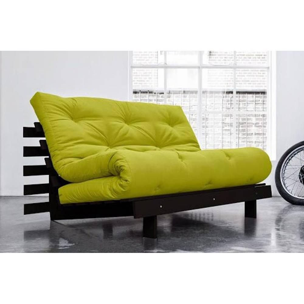 canap banquette futon convertible au meilleur prix canap bz weng roots wengue futon vert. Black Bedroom Furniture Sets. Home Design Ideas