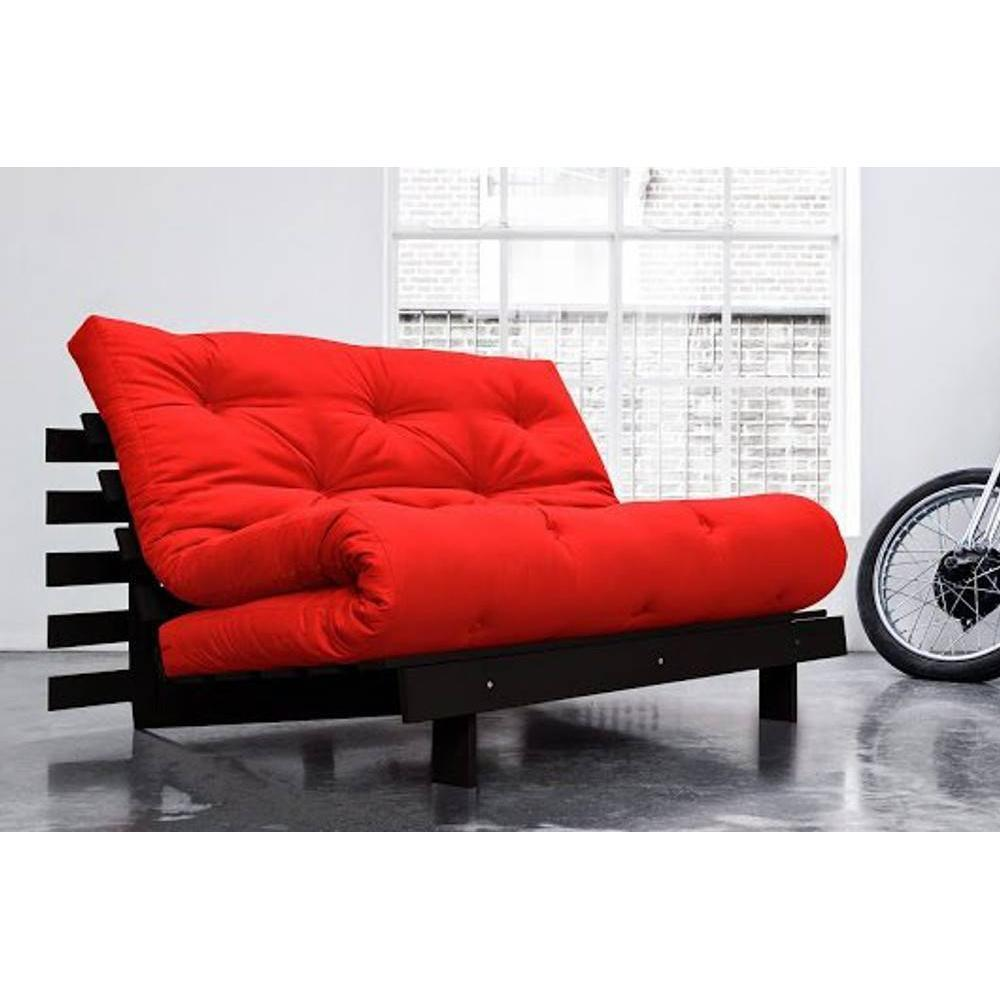 canap convertible au meilleur prix canap bz weng roots wengue futon rouge couchage 140 200cm. Black Bedroom Furniture Sets. Home Design Ideas