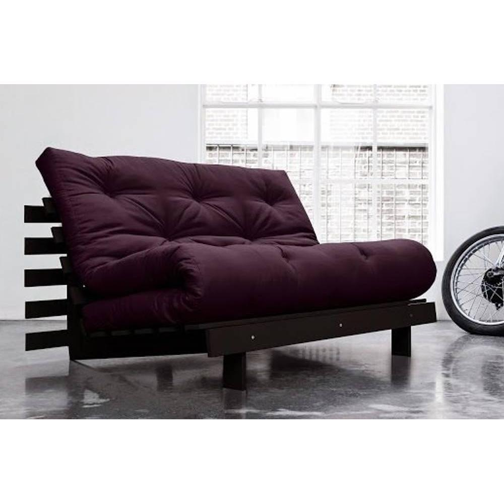 canap convertible au meilleur prix canap bz weng roots wengue futon violet couchage 140. Black Bedroom Furniture Sets. Home Design Ideas