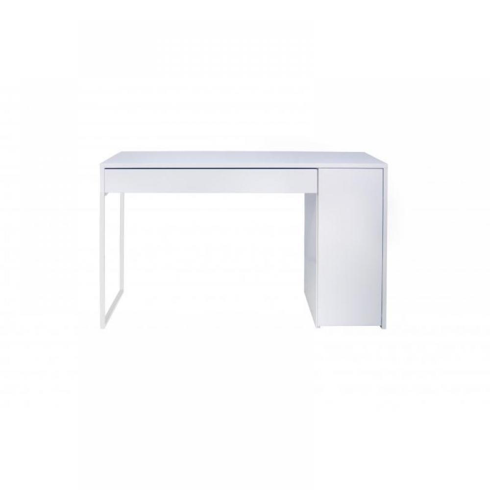 bureaux meubles et rangements temahome prado bureau blanc mat avec 1 tiroir et 1 caisson. Black Bedroom Furniture Sets. Home Design Ideas