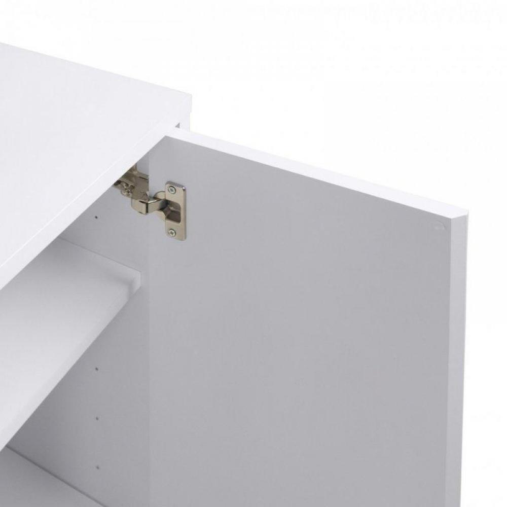 PRADO bureau blanc mat avec 1 tiroir et 1 caisson