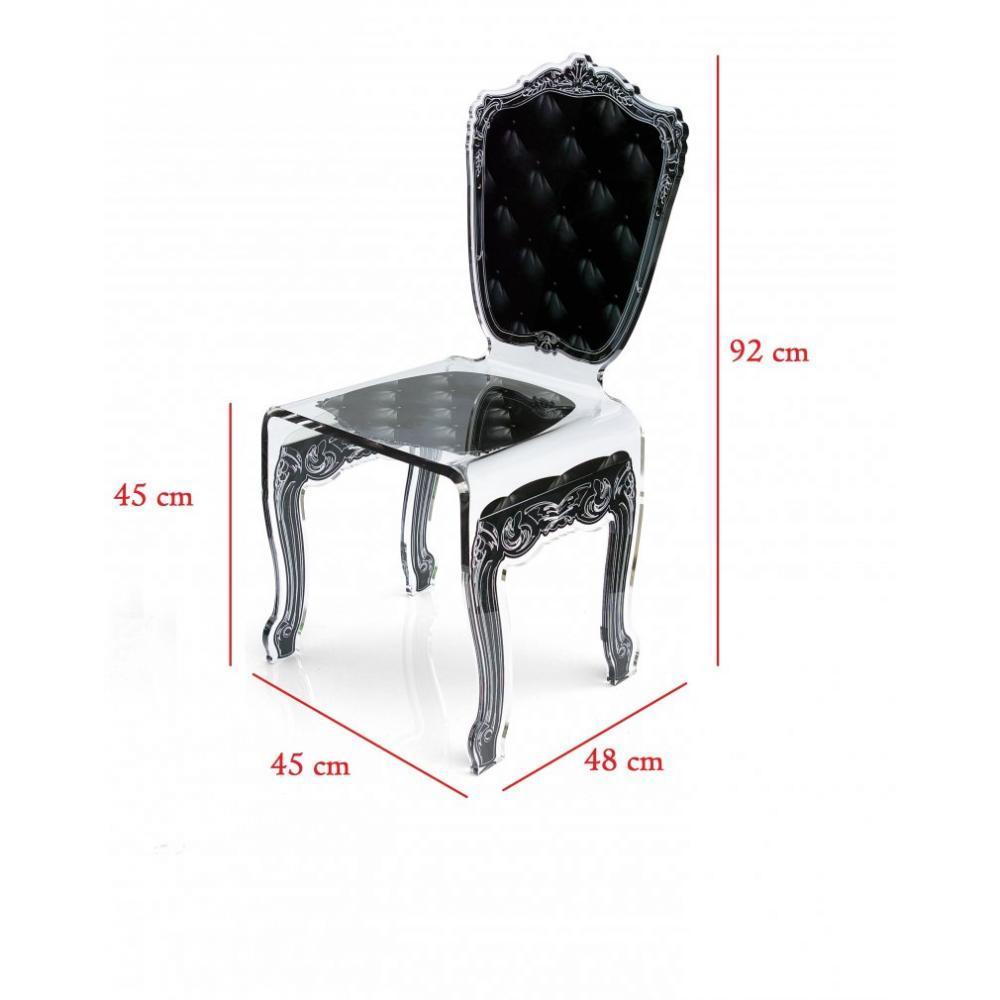 Chaises meubles et rangements capiton chaise en plexi for Chaise en plexi