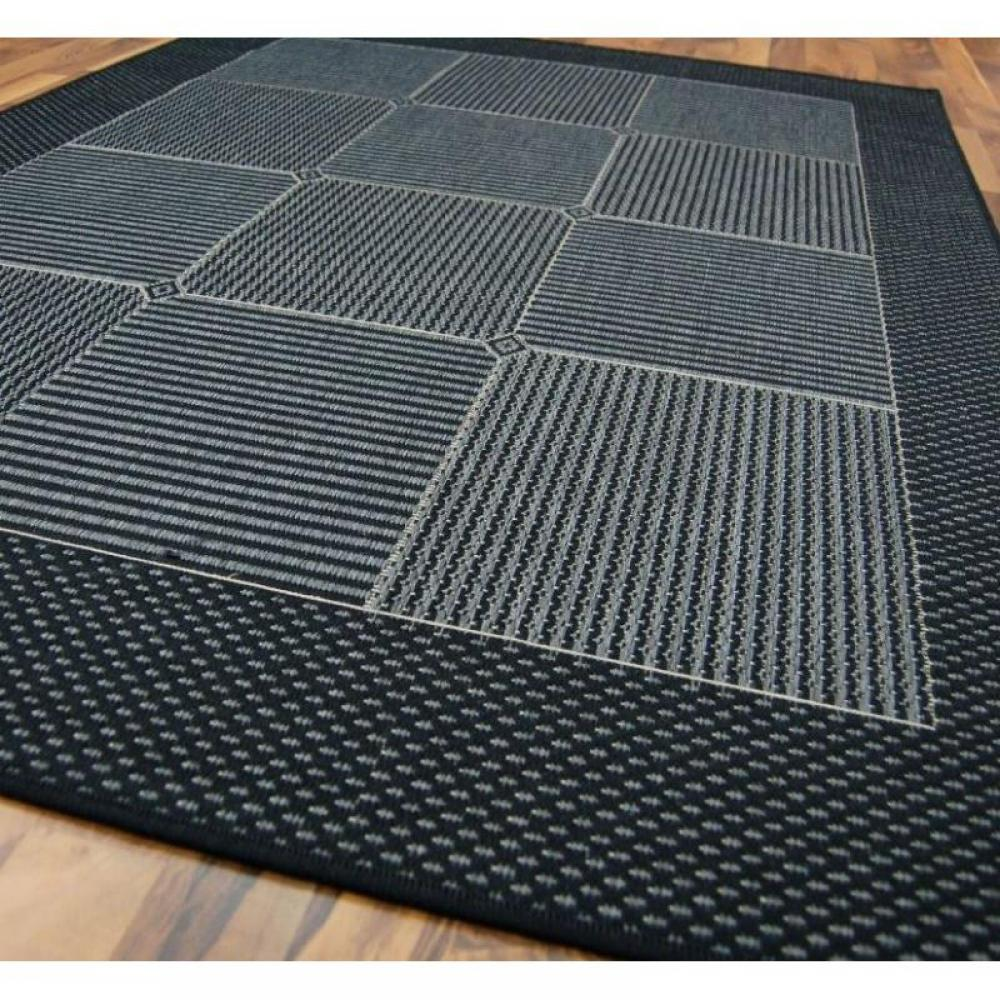 tapis de sol meubles et rangements carpetto tapis gris bleu fonc 160x230 cm inside75. Black Bedroom Furniture Sets. Home Design Ideas