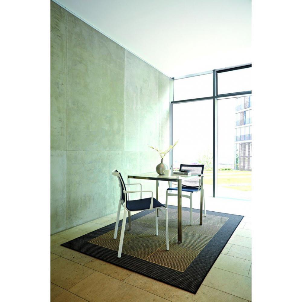 tapis de sol meubles et rangements carpetto tapis gris marron 160x230 cm inside75. Black Bedroom Furniture Sets. Home Design Ideas