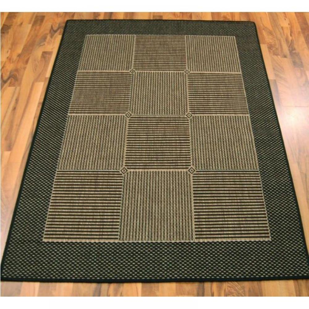 tapis de sol meubles et rangements carpetto tapis gris marron 160x230 cm inside75. Black Bedroom Furniture Sets. Home Design Ideas