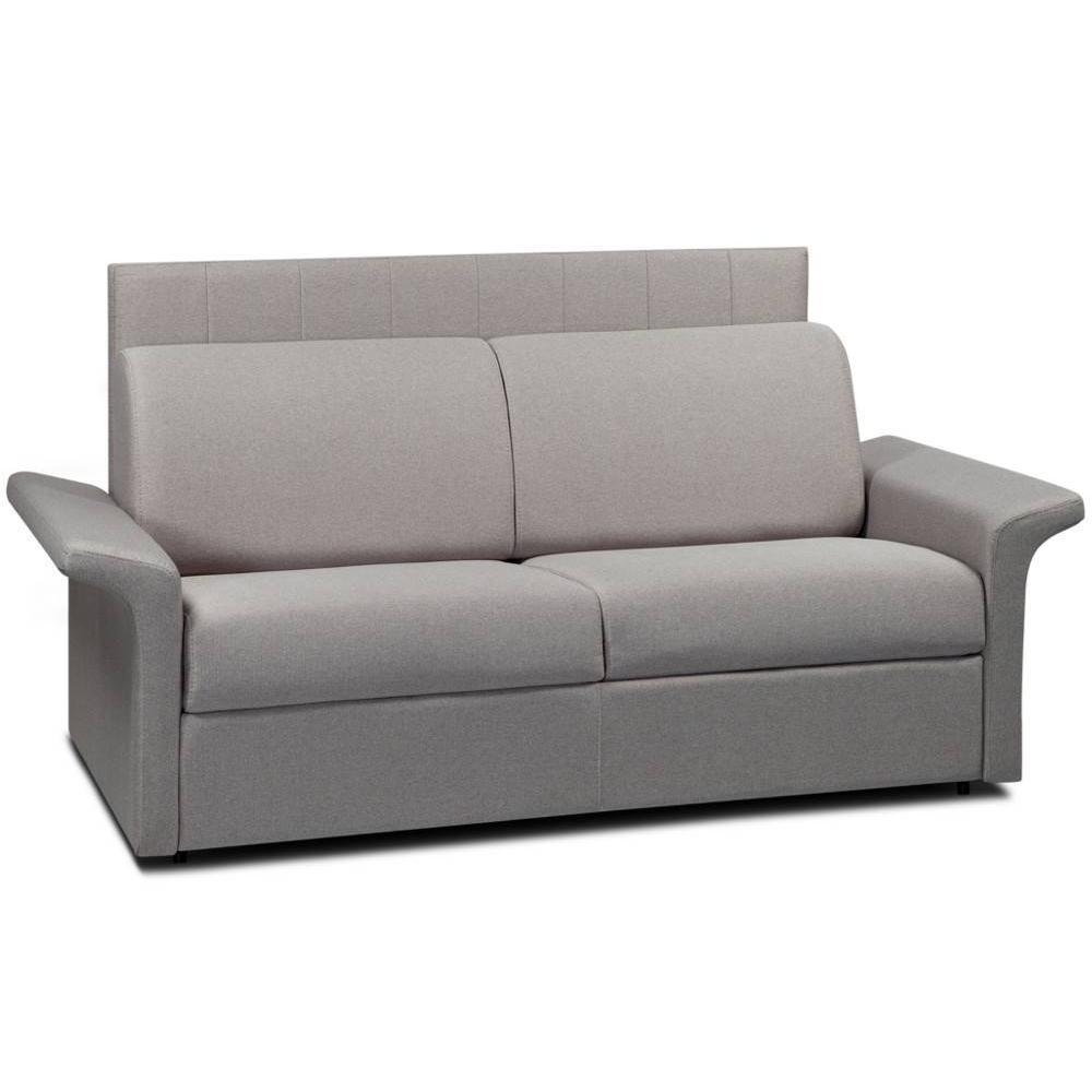 Canapé lit 3 places CASTEL 140cm EXPRESS sommier lattes tête de lit intégrée matelas 16cm