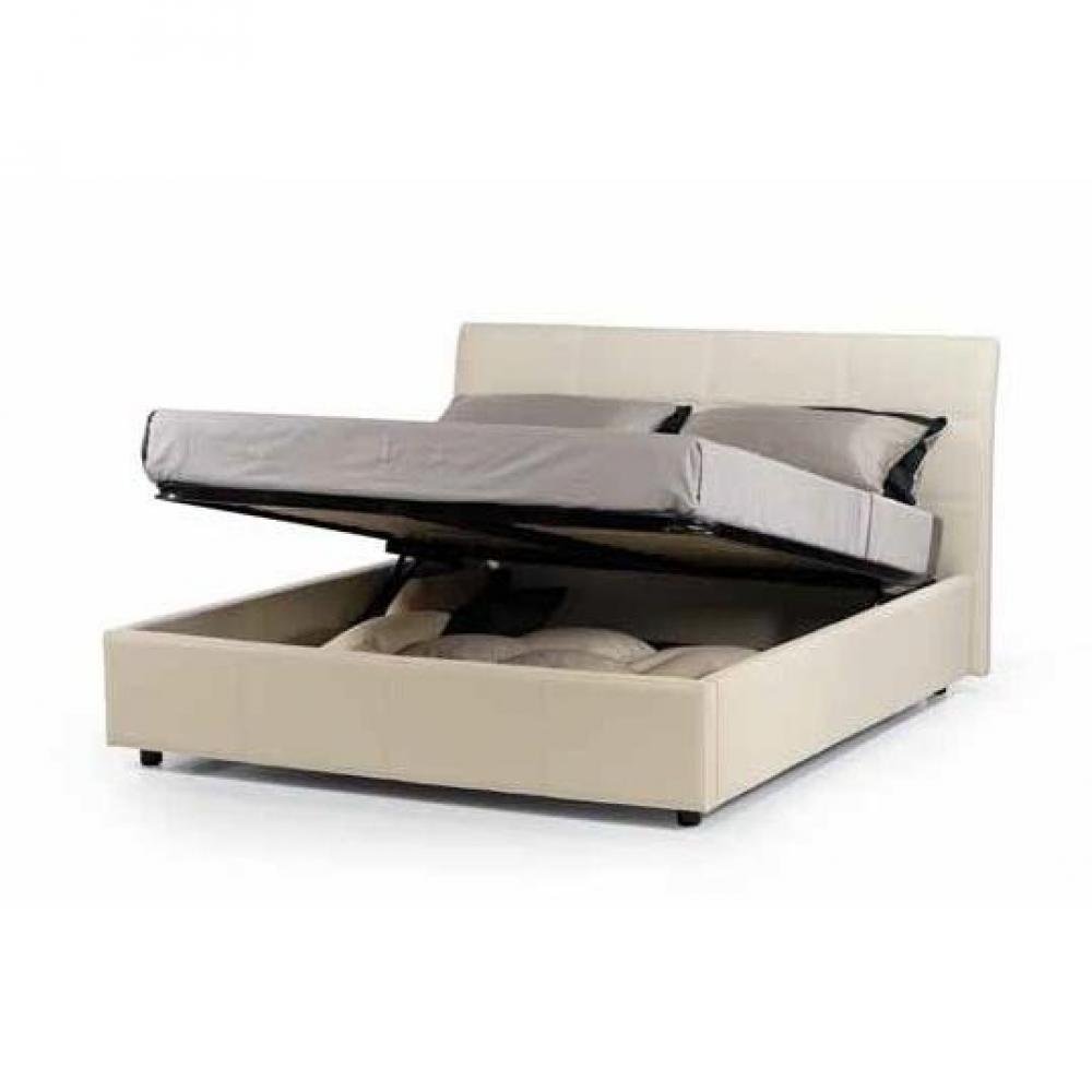 lits coffres chambre literie lit coffre design cesare couchage 2 personnes 180 200cm en cuir. Black Bedroom Furniture Sets. Home Design Ideas