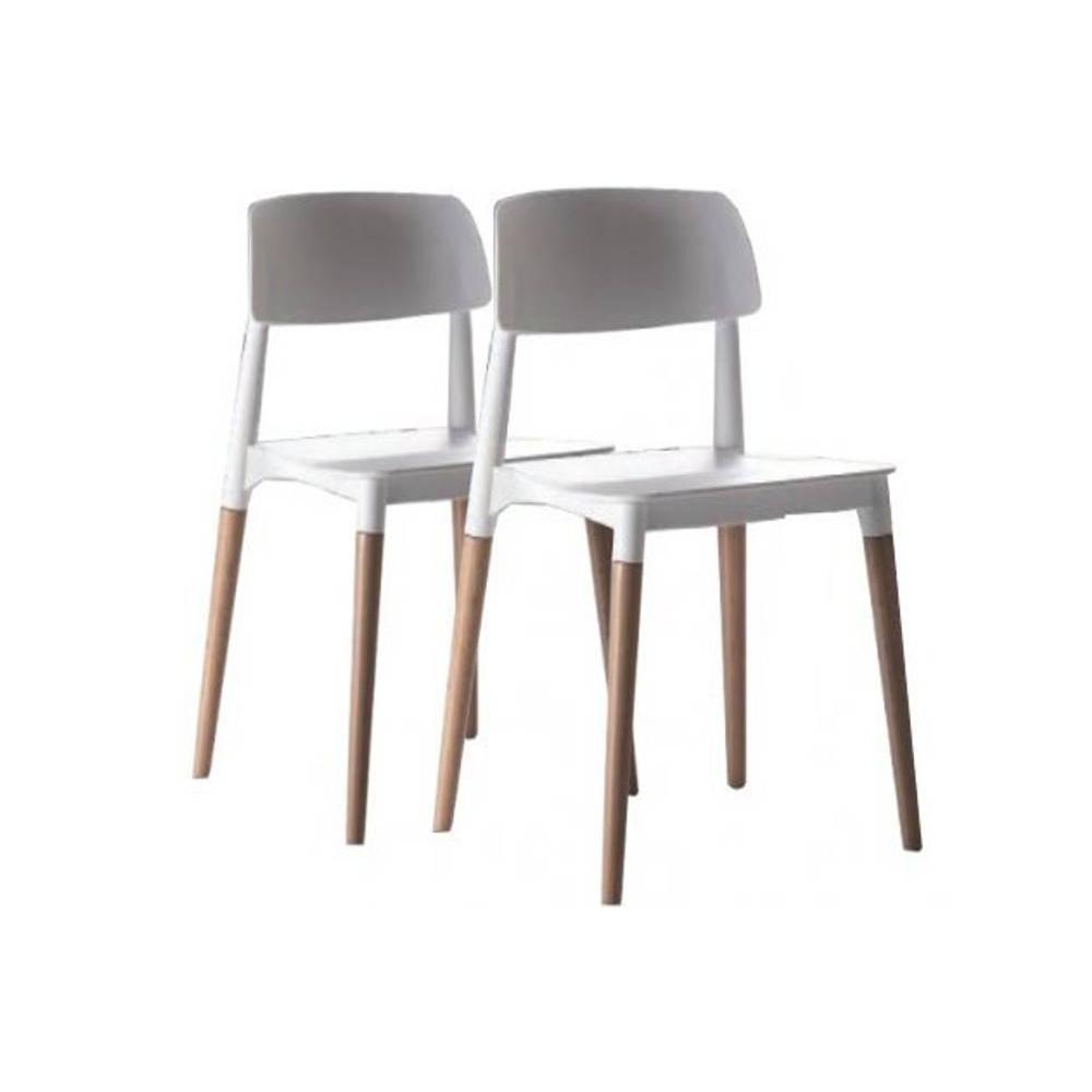 chaise design ergonomique et stylis e au meilleur prix lot de 2 chaises artika empilables. Black Bedroom Furniture Sets. Home Design Ideas