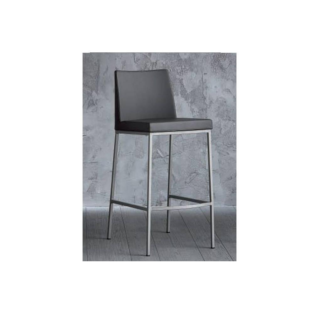 chaise de bar design tendance r tro au meilleur prix chaise de bar erik en cuir co gris. Black Bedroom Furniture Sets. Home Design Ideas